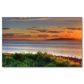 Αφίσα (πόλεις, Αμερική, ηλιοβασίλεμα, γρασίδι, σύννεφα, θέα, τοπίο)